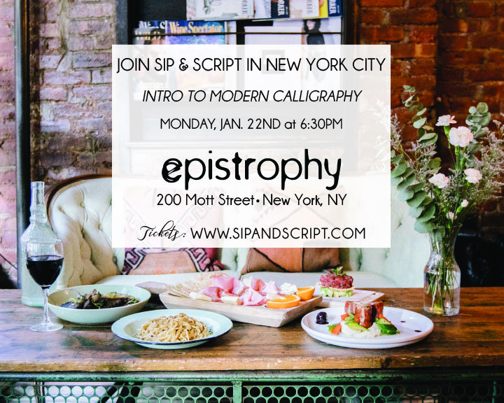 Modern Calligraphy At Epistrophy Nyc Sip Script
