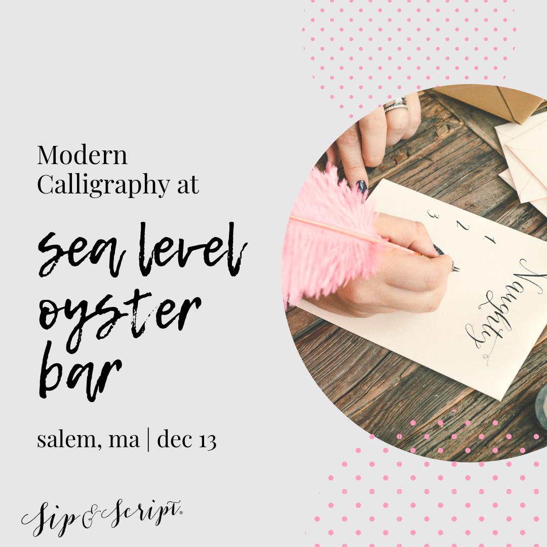 calligraphy workshop at sea level salem mass