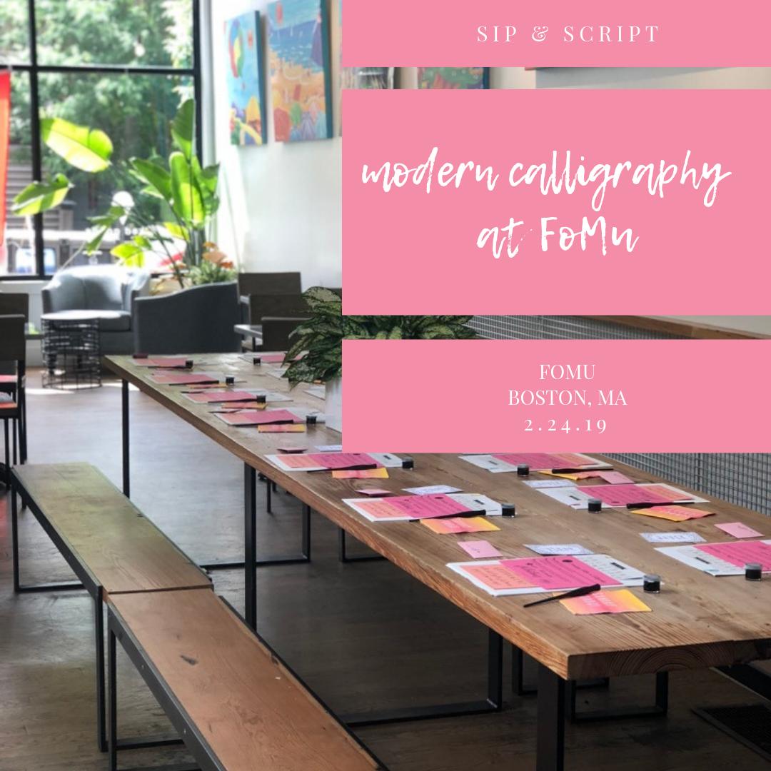 calligraphy workshop boston
